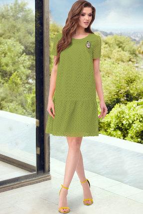 Платье ТАиЕР 856 лайм