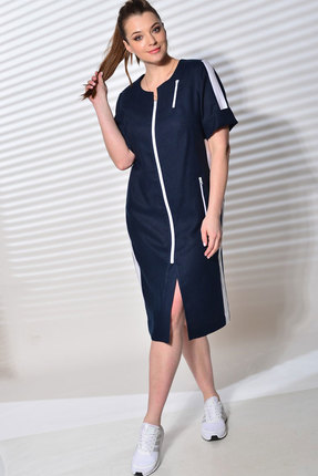 Платье MALI 420-064 тёмно-синий