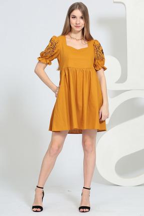 Платье Juliet Style 126 оранжево-желтый фото