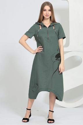 Платье Juliet Style 137-1 темный хаки