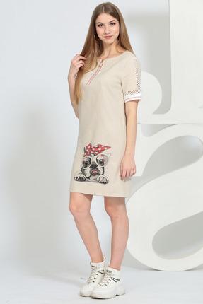 Платье Juliet Style 145 бежевые тона