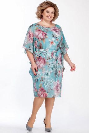 Платье LaKona 1314 ментолово-розовый