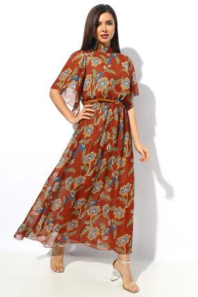 Платье Миа Мода 1143 оранжевые тона