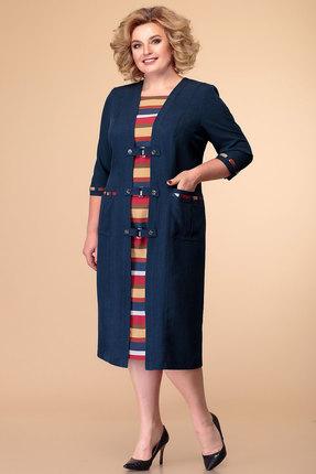 Платье Romanovich style 1-051 синие тона фото