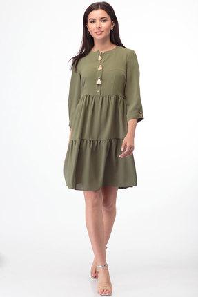 Платье Anelli 833 хаки фото