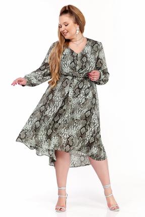 Платье Pretty 1228 зеленые тона