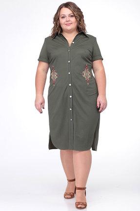 Платье Belinga 1003 хаки фото