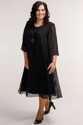 Платье Belinga 1039 черные тона фото