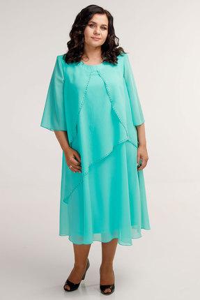 Платье Belinga 1041 светлая бирюза фото