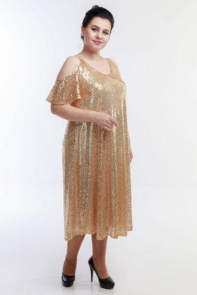 Платье Belinga 1043 бежевые тона фото