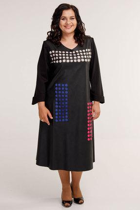 Платье Belinga 1046 чёрные тона фото