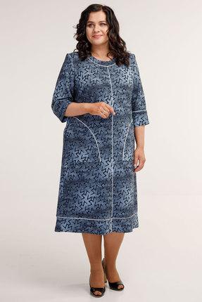 Платье Belinga 1049 синие тона фото