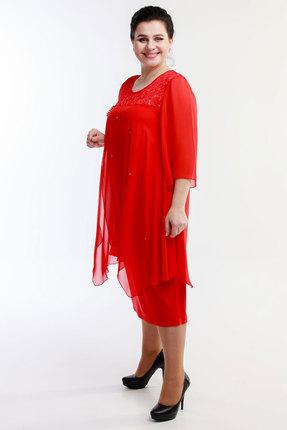 Платье Belinga 1054 красные тона фото