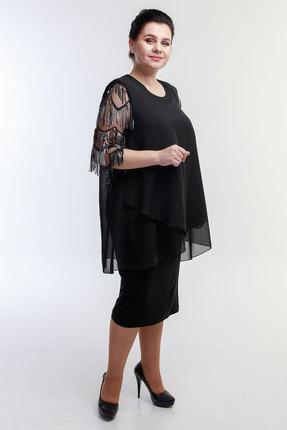 Платье Belinga 1057 чёрные тона фото