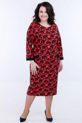 Платье Belinga 1089 бордо фото