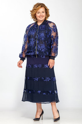 Комплект юбочный Belinga 1222 синие тона фото