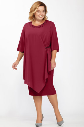 Платье Belinga 1157 бордо фото