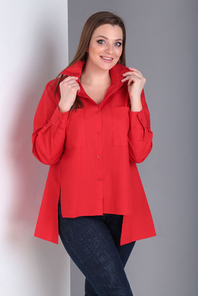 Блузка Таир-Гранд 62385 красный фото