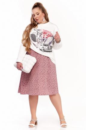 Комплект юбочный Pretty 1297 розовые тона фото