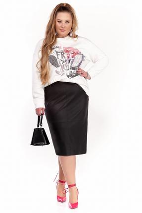 Комплект юбочный Pretty 1298 черно-белый фото