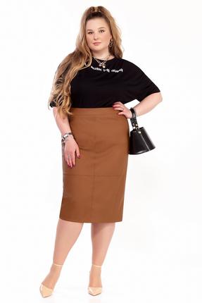 Комплект юбочный Pretty 1299 черный с рыжим фото