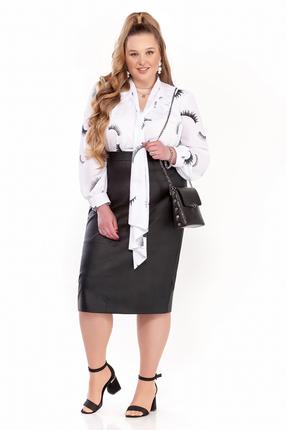 Комплект юбочный Pretty 1305 черный с молочным фото