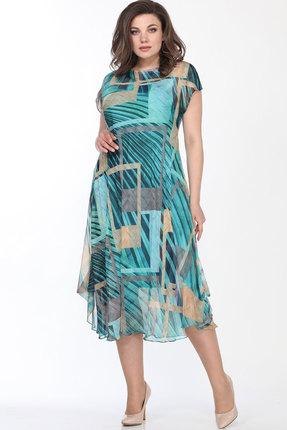 Платье Bonna Image 437 бирюзовые тона