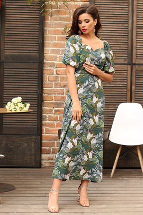 Платье Мода-Юрс 2565 зеленый