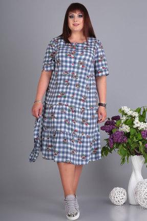 Платье Algranda 3528 белый с синим