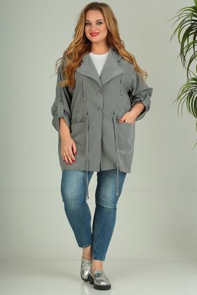 Куртка SandyNa 13666 дымчато-серый фото