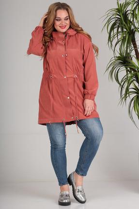 Куртка SandyNa 13679 терракот с кораллом фото