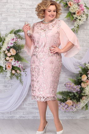 Платье Ninele 7289 пудра фото