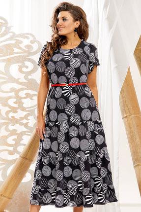 Платье Vittoria Queen 10993 черный с серым фото