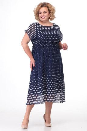 Платье KetisBel 1455 синие тона фото