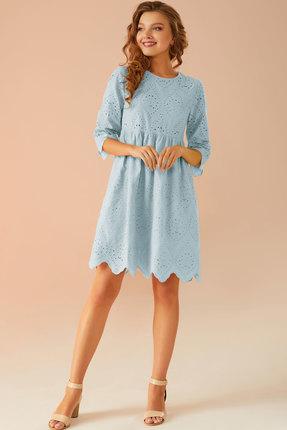 Платье Andrea Fashion AF-19 голубой