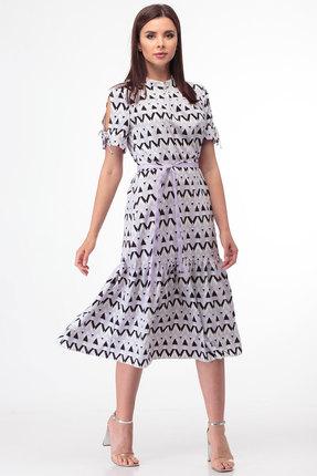 Платье Anelli 716 белые тона