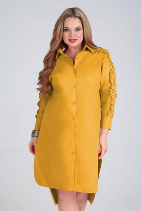 Платье Таир-Гранд 6547 горчица фото