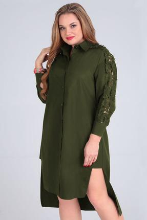 Платье Таир-Гранд 6547 хаки фото