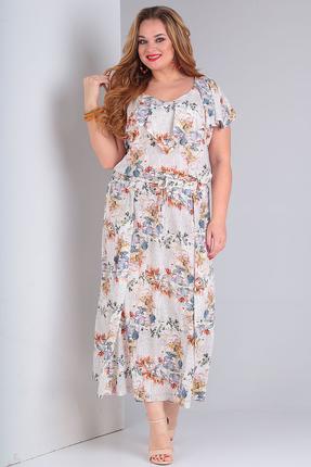 Платье Vasalale 669 бежевые тона