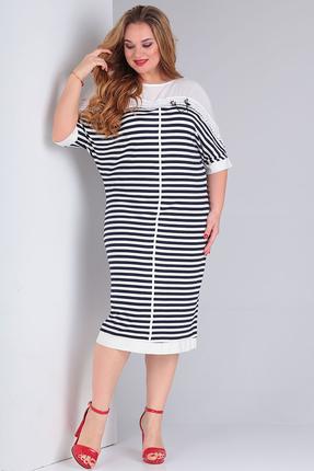 Платье Vasalale 670 сине-белый фото