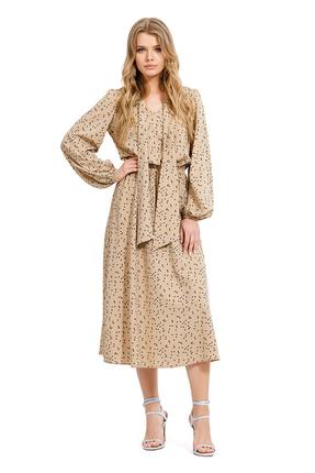 Платье PIRS 1263 бежевые тона фото