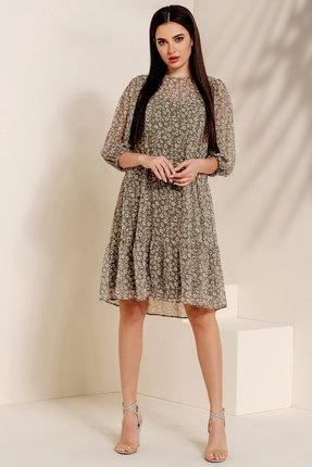 Платье Olegran 791 оливковые тона фото