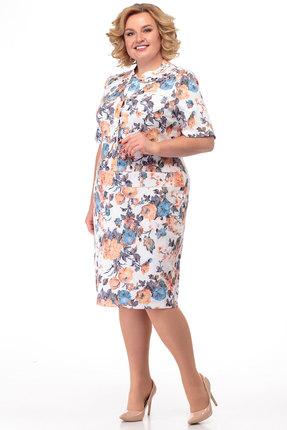 Платье Anelli 214 молочный с цветным фото