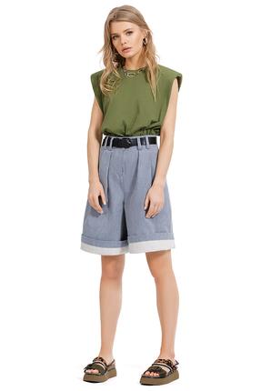 Комплект с шортами PIRS 1268 сине-зеленый фото