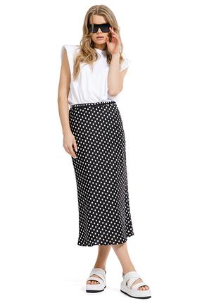 Комплект юбочный PIRS 1269 черно-белый фото