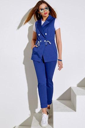 Комплект брючный Lissana 4046 синий с белым фото