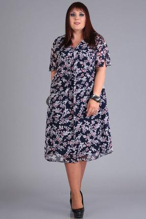 Платье Algranda 3529 синие тона фото