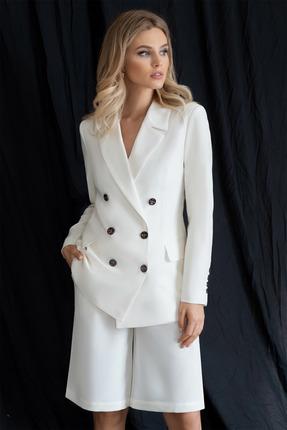 Комплект с шортами ЮРС 20-354-1 бело-молочный фото