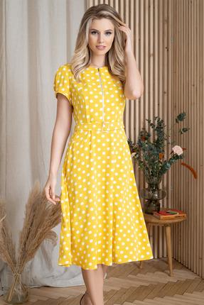 Платье ЮРС 20-355-1 желтый