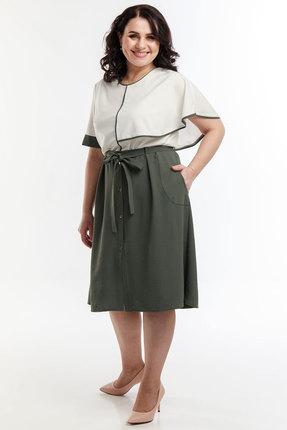 Комплект юбочный Belinga 2059 молочный с хаки фото